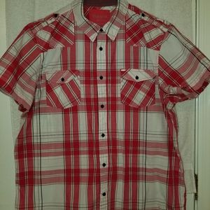 Mens Guess Short Sleeve Button Down